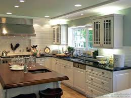 kitchens with white cabinets and green walls. Contemporary Kitchen Light Green Glass Subway Tile Dark Brown Laminate Wooden Cabinets Kitchens With White And Walls N