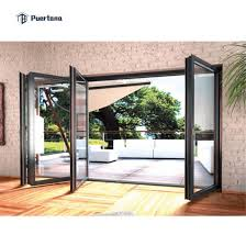 aluminium sliding folding patio doors