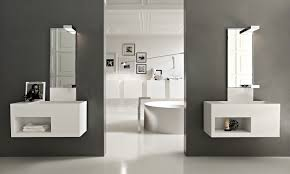 bathroom small bathroom vanity ideas square black stained wooden frame glass mirror shapely spherical pendant