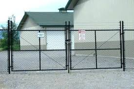 chain link fence gate lock. Fence Gate Lock Chain Link Double Latch Wire Black  Drive .