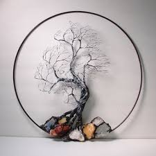 wire tree of life black and white wind spirit sculpture with natural calcites original art on wire tree sculpture wall art with best tree of life wall sculpture products on wanelo