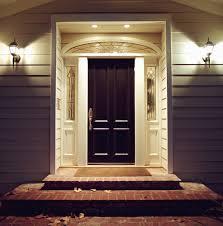 elegant dark front door to home