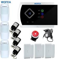 remote wireless app control home security gsm alarm systems wired siren kit sim sms alarm