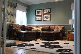 Brown and Turquoise Living Room - aka design