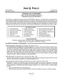 Sample Resume For Cpa