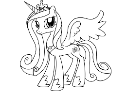Coloriage Princesse My Little Pony L