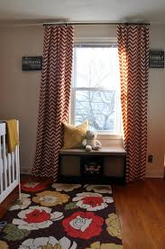 nursery curtains tutorial using iron on hemming tape no sewing required
