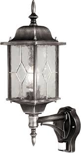 outdoor lantern lighting. Wexford Traditional Outdoor PIR Wall Lantern Black \u0026 Silver Lighting