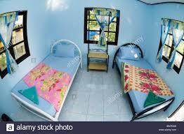 Blaues Schlafzimmer Mit Zwei Einzelbetten Stockfoto Bild 30284641