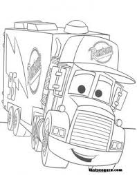 Free For Kids Mack Car 2 Coloring Pages Disney Printable Coloring