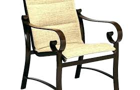 patio furniture sling back chairs modern stylish slingback chair outdoor fabric dining