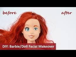 diy take the makeup off a doll and re paint the face