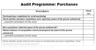 Sample Audit Program Cool What Is Audit Programme Or Audit Program PakAccountants