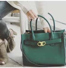 preorder tory burch gemini link leather tote green women s fashion bags wallets on carou