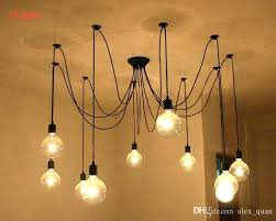 edison bulb light fixtures hanging bulbs vintage pendant lamps loft retro bulbs hanging lights creative spider