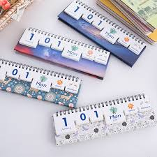 custom printing mini print perpetual desk diy office cute calendar 2016 2017 school supplies in calendar from office school supplies on aliexpress com
