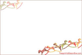 Christmas Recipe Card Seasonal Rocking Horses Christmas Recipe Card Template