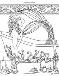 Small Picture realistic mermaid coloring pages for adults tagged with detailed