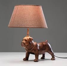decorative pug table lamp