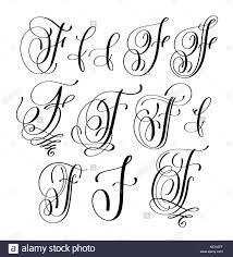 Lettering Letters Design Calligraphy Lettering Script Font F Set Hand Written