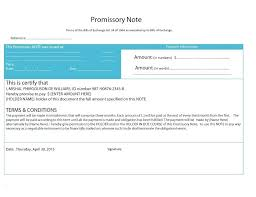 Promissory Note Word Template Promissory Template