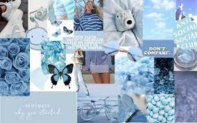 Desktop Wallpaper Light Blue Aesthetic ...