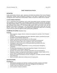 Probation Officer Cover Letter Probation Officer Internship