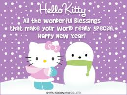 hello kitty merry christmas new year 2018 wishes