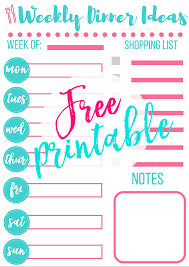 weekly menue planner how to start a meal plan free weekly menu planner printable