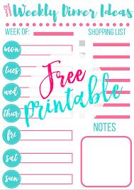 weekly menue planner how to start a meal plan free weekly menu planner printable