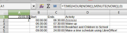 Make A Time Schedule Libreoffice Tutorial Make A Time Schedule Part 2 The If