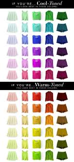 Skin Tone Clothing Chart How To Tell If You Have Cool Or Warm Skin Undertones Skin