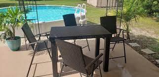 4 piece high top wicker patio furniture
