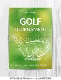 Golf Party Invitation Card Sport Tournament Flyer