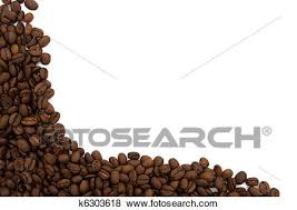 coffee beans border. Fine Beans Coffee Beans On The Side Isolated White For A Coffee Border To Beans Border E