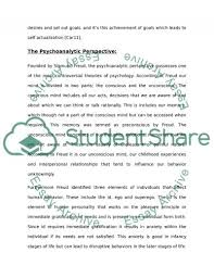 humanistic perspective and psychoanalytic perspective essay  text preview