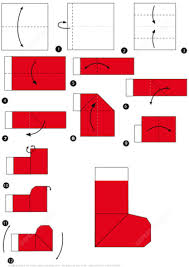 Santa Boot Template How To Make An Origami Santa Boots Instructions Free