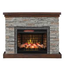 duraflame 54 in w flagstone mdf infrared quartz electric fireplace thermostat remote control included