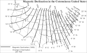 Magnetic Declination Chart Exercise 4 E Compasses And Direction