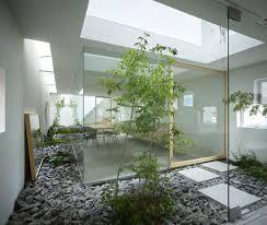 amazing home atrium multi level interior garden design