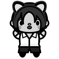 かわいい猫耳男子の無料イラスト商用フリー オイデ43