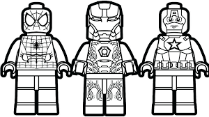 superhero lego coloring pages super