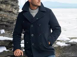 brooks brothers wool blend melton peacoat