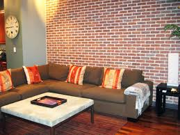Wall Texture Designs For Living Room Brick Wall Living Room Design Large Classic Living Room With