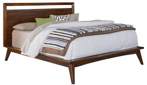 mid century modern king bed. Mid Century Modern Bed | White Leather Tufted King A