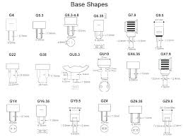 Bulb Chart Light Bulb Sizes Light Bulb Car Chart Discountwear Co