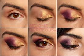brown eye makeup for party