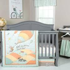 5 piece crib bedding set orange and teal aqua