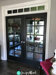 office black. Black French Doors Jennifer Allwood Office C