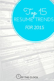 Great Current Resume Trends 2014 Examples Contemporary Resume